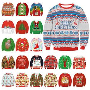 34 Style de Père Noël Arbre de Noël renne Patterned Sweater Nouveau Arrivant truand Pulls Noël pour les hommes des femmes d'âge manches longues Pulls