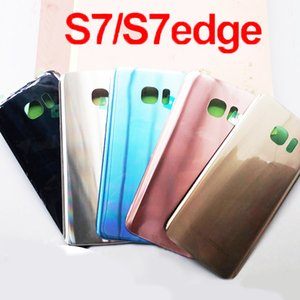 For SAMSUNG Galaxy S7 G930F S7Edge G935F Back Glass Battery Cover Rear Door Housing Case For SAMSUNG S7 S7Edge Back Glass Cover