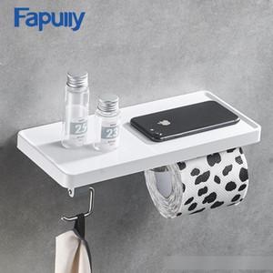 Fapully Tuvalet Kağıdı Tutucu Duvar Tek Rolls Kağıdı Duvar Tutucu Banyo Aksesuarları ABS ve Paslanmaz Çelik Raf T200425 Standı Monteli