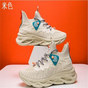 2020 autumn new sports shoes with front lace-up platform casual shoes mesh solid color breathable single shoes