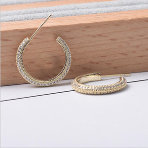 Hot Sale S925 Sterling Silver Needle cut out horse eye Crystal Earrings retro exquisite fashion size Earrings
