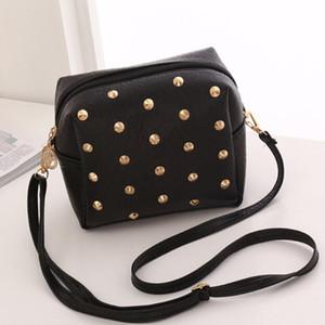 Женщины Кожа PU Сумочка Модный Packet Личи Rivet мобильный телефон кошелек сумка Crossbody Женские сумки на ремне,