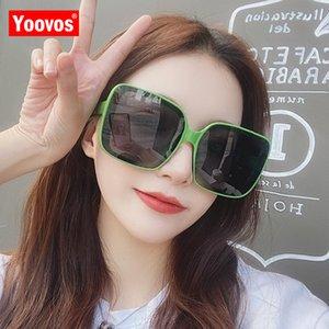 Yoovos Platz Frauen-Sonnenbrille 2020 Weinlese-Maxi-Luxus-Frauen-Sonnenbrille Retro Brand Design Fashion Classic Female Brillen