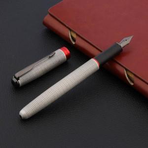 qualidade de luxo JINHAO 75 clássico Fountain Pen metal vermelho Preto titânio NIB Feather Seta treliça Escritório material escolar Escrita