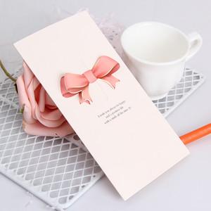 Kreative Ferien Karten Bow Liebe-Feiertags-Nachricht-Segen-Karte Bunte Neujahr Valentinstag Nachricht Karten VT1613
