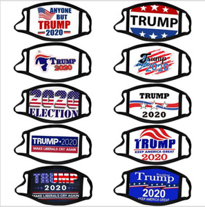 Trump Face Mask Election Sulpplies Bouche Couverture réutilisable Impression Masque anti-poussière lavable visage respirant MasksDesigner Masque HHF1675