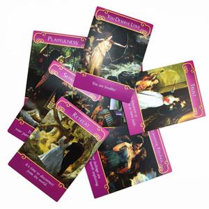 Carte English Romance Doreen Nuovi Angeli Consiglio Tarocchi virtù Stampa The Rare carte Oracled gioco 44 misterioso Full Deck Out By JclaG