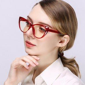 Nuevo resorte de la bisagra Conector anti Blue Ray bloqueo de la luz del ordenador TR90 vidrios claros de protección de las mujeres Gafas Gafas de Grau
