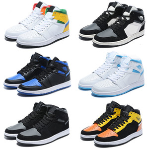 Jumpman 1 tênis de basquete Sneakers Atletismo Sapata Running For Kids Mulheres Sports Torch Hare Jogo Real Pine Green Court