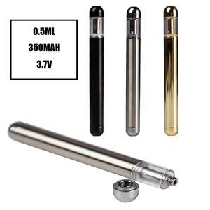 V70 Disposable Vape Pen 0.5ml 350mAh Battery Ceramic Coil Packaging Tank Empty E Cigarettes