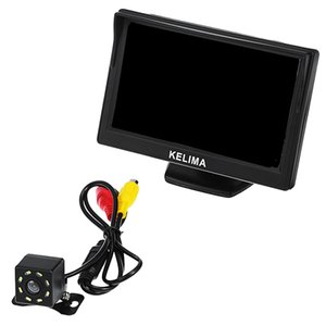 General fit Car 8 IR LED Rearview Camera + 5 inch Screen Display