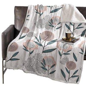 BIGHOUSES Throw Одеяло цветок Stick Figure Заливка Pattern Покрывало Покрывало Одеяло Руно Throw Cover Wrap персонализированный Толстая