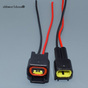 shhworldsea 2 Pin way male female high Voltage ignition coil Plug connector for Focus FW-C-2M-B FW-C-2F-B 4.9 car
