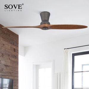 Moderne LED Village avec ventilateur industriel plafond en bois Lumières en bois Ventilateurs de plafond sans lumière décorative Lampe ventilateur