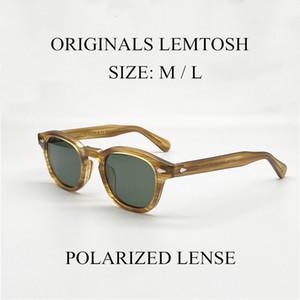 Donne Retro Pirate Captain Johnny Depp Lemtosh Eyewear acetato epoca ovale occhiali da sole polarizzati Uv400 Uomini Driving Occhiali da sole