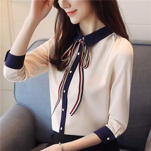 Zpsrz Quality 2020 Autumn national shirt national shirt chiffon style cardigan doll collar slim women's Doll SqeRs