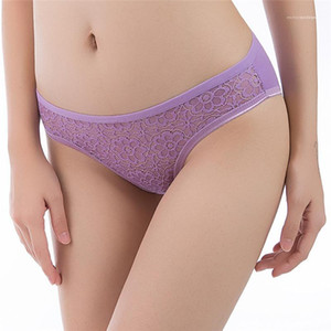 Designer Underwear Womens Casual Mid Waist Panties Womens Floral Patchwork Lace Hollow Out Everyday Comfortable Briefs