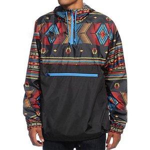 Print Hip Casual Zip Hooded Cool Long Sleeve Sweatshirt Pocket Tether Men Hoodies Hop Trench Leisure Fashion Warm Jackets Retro Qaveu