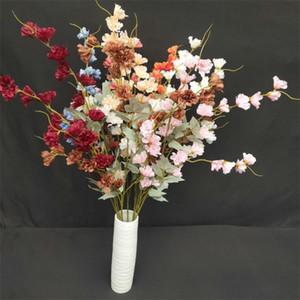 "Fake Long Stem Delphinium Flower (4 stems piece) 44.1"" Length Simulation hyacinth for Wedding Home Decorative Artificial Flowers"