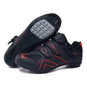 pscownlg 전문 야외 MTB 자전거 운동화 남성 통기성 미끄럼 경주 도로 자전거 신발 비 잠금 스포츠 신발