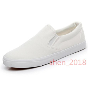 casual shoes 2020 fashion slip-on white black red green canvas falt shoes for men women walking shoes 36-44