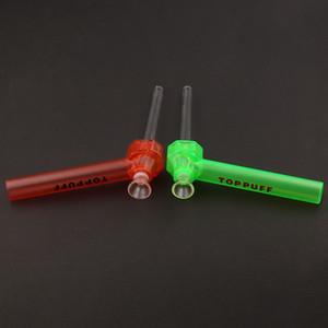 Top Puff Acryl Bong leicht zu tragen Einschrauben Wasserleitung Glas Shisha Chicha Rauchen Tabak Kräuterhalter Sofortige Schraube auf Huka