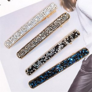 Bling Korean Crystal Rhinestone Hair Clip For Women Girls Barrettes Hairpins Hairgrips Hair Accessories Styling Tools