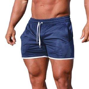 Festes Swimwears elastische Taillen-Gym Jungs Board Shorts über das Knie Gerade Aktiv Male Sport Hosen Sommermens Quickdry