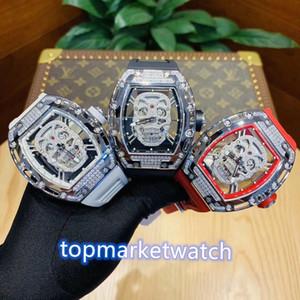جودة عالية المصنعين GB أعلى نسخة RM052 الماس الجمجمة الطلب 28800 اليابان مياوتا التلقائي RM 052 رجل ووتش الماس التيتانيوم الصلب cas