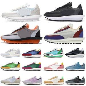 sacai nike vaporwaffle ldv ld waffle أحذية غير رسمية مكتنزة من النايلون LDV الفجر غير رسمية للرجال والنساء أحذية رياضية خارجية