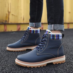 OLOME Winter New Product Men Cotton Shoes Cold Protection Plus Velvet Shoes Outdoor Walking Keep WarmShoes Zapatos Casuales