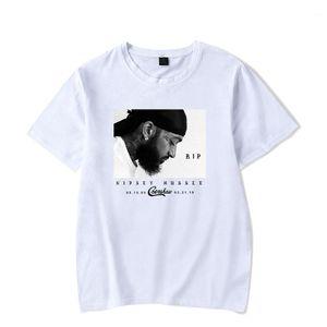 عارضة الملابس نيبسي هوسلي رجل بلايز مغني الراب مطبوعة بأكمام قصيرة قمصان مصمم القمم الذاكرة من الملابس للرجال