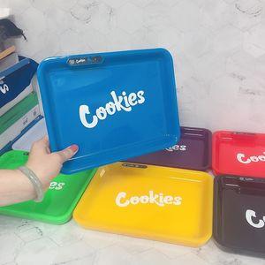 Cookies Glow Tray LED-Licht wiederaufladbare Rollen Zigarette Tray 550mAh eingebaute Batterie Glowtray Quick Charge mit Geschenk-Verpackung Box