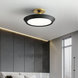 Simple and modern study master bedroom creative round light luxury led ceiling lamp home decoration lighting