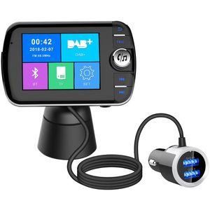 DAB004 Bluetooth 4.0 FM Transmitter Modulator Dual USB Mobile Phone Handsfree Car Radio Audio Adapter Charger Car MP3 Player