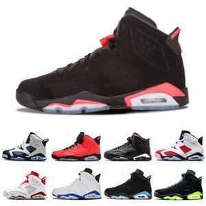 Novo infravermelho criado 6 6s homens sapatos de basquete DMP UNC OREO Flint Carmin Mens Trainers Esportes Sneakers Quente