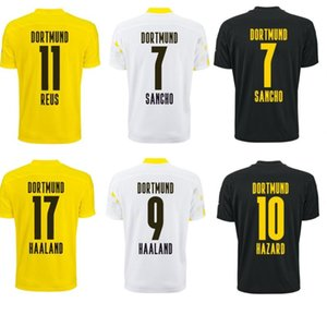 20 21 dortmund kids men HAZARD GOTZE REUS PULISIC WITSEL HAALAND REYNA soccer jersey home awya third football shirt