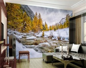 3d Wallpaper walls Beautiful Mountain Snow Landscape Home Decor Living Room Bedroom Wallcovering HD Wallpaper
