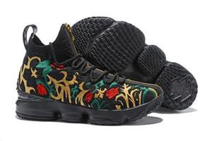 Alta calidad Lebron 15 Rendimiento de Kith cenizas fantasma para hombre zapatos de baloncesto de las zapatillas de deporte de llegada 15s James deportes diseñador zapatillas LBJ Tamaño