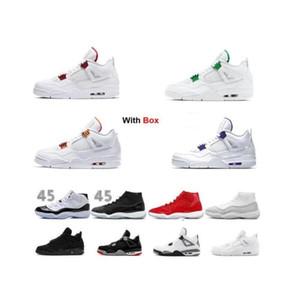 2020 zapatos de baloncesto púrpura metálica 4 4s Naranja Negro metálico 5 gato del fuego de plata rojo lengüeta 11 Space Jam Concord 45 zapatilla de deporte