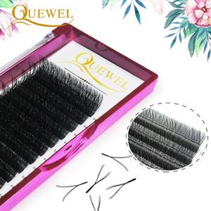 Quewel Y-Shape Volume Ciglia Extension C Curl singolo morbido naturale Matte ciglia finte Lashes magnetici Strumenti di make-up personali