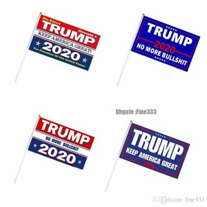 Trump 2020 Flag Hand Flag Toy Signal Flags 14X21CM Donald Flags Letter Print Keep America Great Banner Waterproof Paper Hand Waving Flag