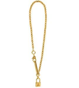 AMBUSH Gold and Silver Beaded Bracelet 925 fashion personality design hip hop trend men and women Bracelet