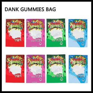 500mg Dank Gummies Mylar Borsa 500mg al dettaglio Zip sicurezza bambini impermeabile agli odori del sacchetto di plastica 4 tipi per il trasporto a secco Herb Tabacco DHL