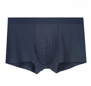 Mens Sexy Striped Modal Underwear Mans Boxer Briefs Designer Mid Waist Graphene Antibacterial Functionm Males UnderPants