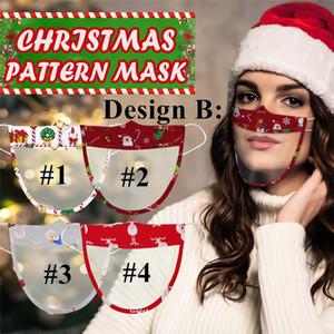 Avec masque visible fenêtre transparente Earloop lecture labiale masques transparents Masque de Noël pour les lèvres sourds-muets sourds Mouth Couverture DHL GGE1805