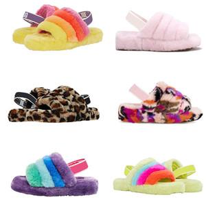 ugg uggs slides Com SOCK Austrália Botas WGG pele macia de lã Womens Furry Chinelos designers de luxo calçados para meninas Slides Treadlite inverno quente de pelúcia crianças