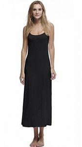 Papicutew Femmes longues pleine Cami Slip Robe sans manches Nightgowns Cb2l #