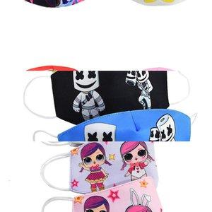 Tela de algodón boca cara mascarillas jardín de nieve pasamontañas máscara máscaras de dibujos animados, niños, jóvenes para Kid Coto Mascarilla Bwkf Ylyzv V9HK
