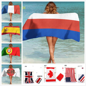 World Cup Beach Towel Fans 150*70 Gu Tian Rabbit Cotton Personality Swimming Printing British Flag Towel Yoga Mat Customizable GWE1787